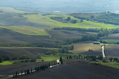 Tuscany fields in autumn Stock Images