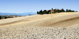 Tuscany fileds stock images