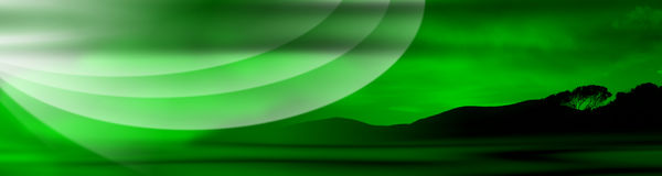 Tuscany Green Banner Royalty Free Stock Photography