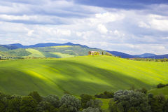 Tuscany - green typical landscape. In spring time Stock Photo