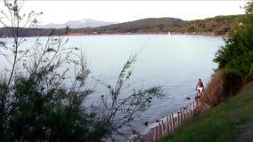 Tuscany, gulf of baratti. Tuscan seascape stock video footage