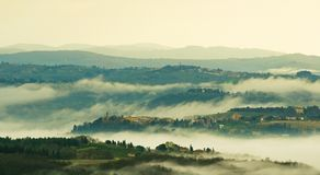 Tuscany hills Stock Photos