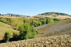 Tuscany hills in fall Stock Images