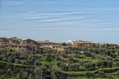 Tuscany hills landscape Stock Photography