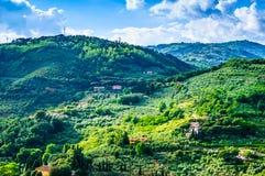 Tuscany hills panoramic landscape, Italy Stock Photo
