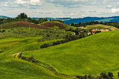 Tuscany Hills Stock Photo