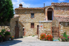 Tuscany House. An exterior of an old stone house in Tuscany royalty free stock photos