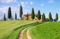 Tuscany house Royalty Free Stock Photo