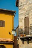 Tuscany house. Orange tuscany style house building Royalty Free Stock Images