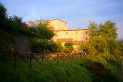 Tuscany house at sunrise Royalty Free Stock Photo