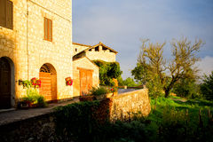 Tuscany house at sunrise Royalty Free Stock Photography