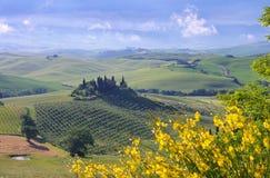 Tuscany hus Arkivfoton