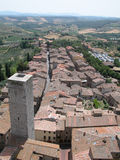 Tuscany II. Medieval Tuscan city seen from above Royalty Free Stock Photo