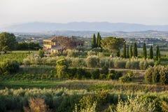 Tuscany Italien - landskap Arkivbilder