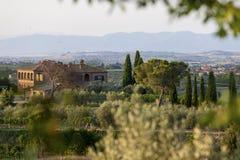 Tuscany Italien - landskap Arkivbild