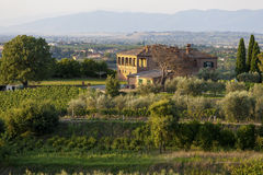Tuscany Italien - landskap Royaltyfria Foton