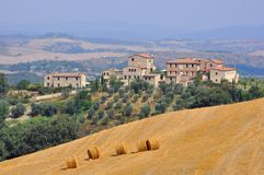 Nature and houses in Tuscany, Italy Royalty Free Stock Photo
