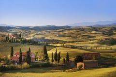 Tuscany - Italy. Landscape in Tuscany in Italy Stock Photos
