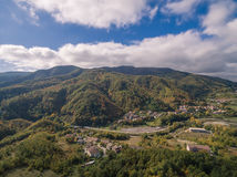 Tuscany, Italy, aerial view. Autumn in Tuscany, Italy, aerial view Royalty Free Stock Image