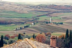 Tuscany countryside landscape winter Stock Photos