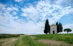 Tuscany, Italy landscape. With old church Stock Photo