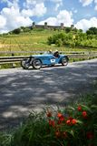 Tuscany, Italy - May 2019: unidentified drivers on RALLY ABC GRAN SPORT 1928 stock photo