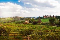 Tuscany Italy Vineyard and Countryside Stock Image
