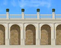 Tuscany kolumnada royalty ilustracja