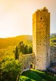 Tuscany krajobraz, Serravalle Pistoiese, Włochy fotografia stock