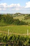 Tuscany krajobraz z San Gimignano Zdjęcie Stock