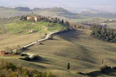 Tuscany krajobrazowy pobliski Siena Fotografia Royalty Free