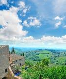 Tuscany landcape seen from San Gimignano Royalty Free Stock Photography