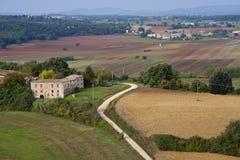 Tuscany Landscape. Tuscany at the autumn - Italy Royalty Free Stock Images