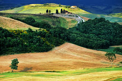 Tuscany landscape. Scenic view of typical Tuscany landscape, Italy Royalty Free Stock Images