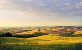 Tuscany landscape. Early morning, Tuscany landscape Stock Photos