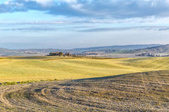 Tuscany landscape. The 'Val d'Orcia' (Siena, Tuscany), with its beautiful hills. The Tuscan valley is one of the most beautiful areas of Italy Stock Photos