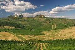 Tuscany landscape. Scenic view over typical Tuscany landscape stock image