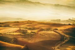 Tuscany landscape - belvedere. Scenic view of typical Tuscany landscape stock image