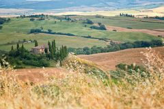 Tuscany landscape - belvedere Royalty Free Stock Photography