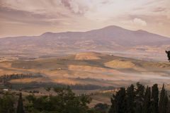 Tuscany Landscape at early morning Royalty Free Stock Photography