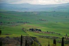 Tuscany landscape and farmhouse Royalty Free Stock Photography