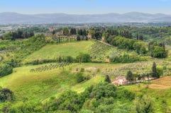 tuscany landscape italy Stock Image