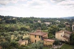 Tuscany landscape near Florence, Italy stock photos