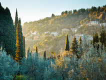 Tuscany landscape near Florence. Italy Royalty Free Stock Image