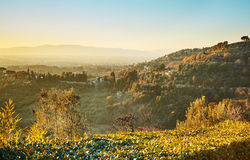 Tuscany landscape near Florence. Italy Stock Photo