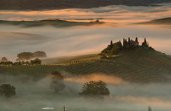 Tuscany landscape near Pienza, Val d'Orcia Italy Royalty Free Stock Photos