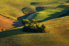 Tuscany - Landscape panorama, hills and meadow Stock Photos
