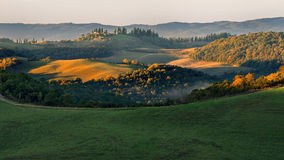 Tuscany - Landscape panorama, hills and meadow Royalty Free Stock Images