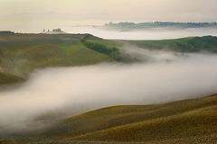 Tuscany - Landscape panorama, hills and meadow, Toscana - Italy Royalty Free Stock Photo