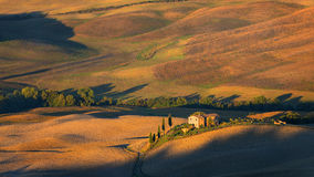 Tuscany - Landscape panorama, hills and meadow, Toscana - Italy Royalty Free Stock Photos